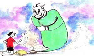 বুকুন, প্রদীপের দৈত্য ও আজব ঝড়