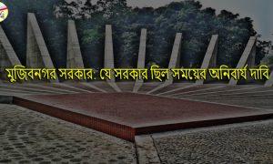 মুজিবনগর সরকার: যে সরকার ছিল সময়ের অনিবার্য দাবি